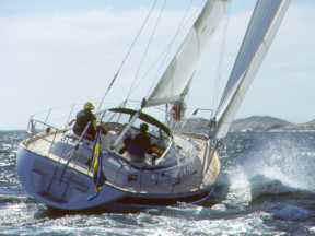 Segelyachten im sturm  Segeltörn Dänemark (Rund Seeland) 2003